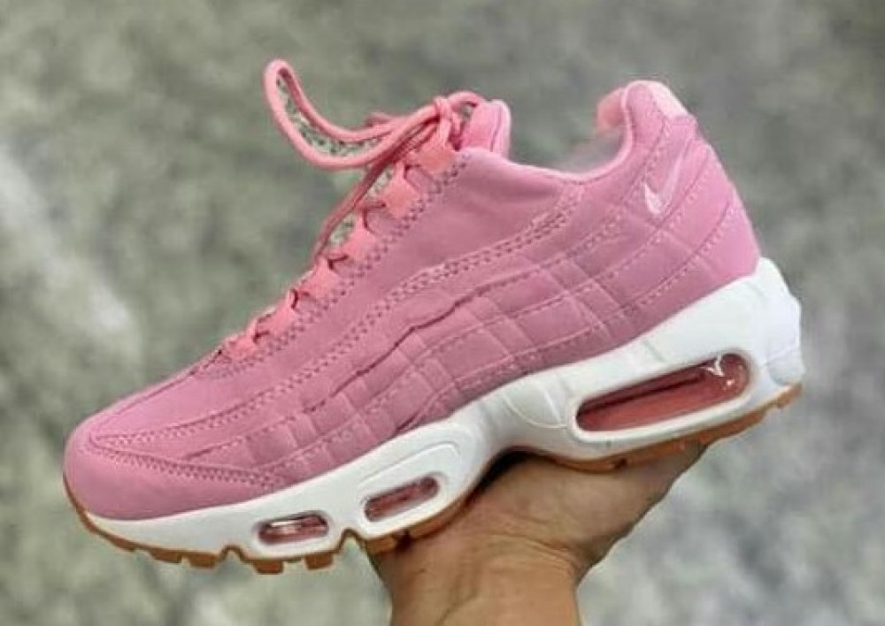 air max 95 feminino branco e rosa